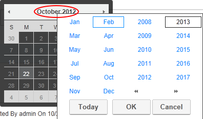 working with the calendar