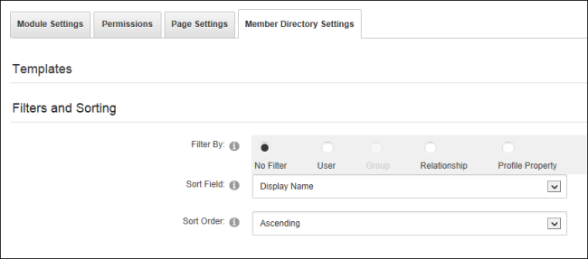 Setting Filters and Sorting