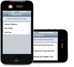 DotNetNuke Blog Module Mobile Application using jQTouch and JQuery