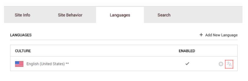DNN Languages Screenshot