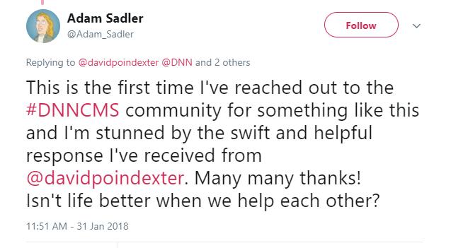 Adam Sadler on Twittered Tweet
