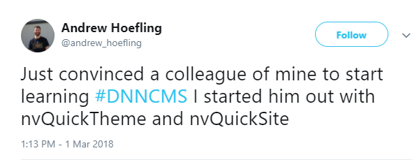 Andrew Hoefling's Featured Tweet