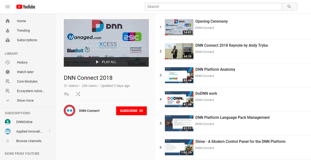 DNN-Connect Repla Playlist