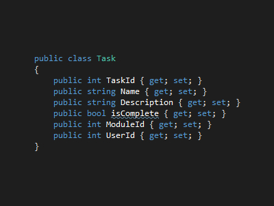 The Task Class definition