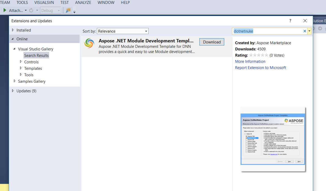 Use Masterpage from ASP.Net website as template.