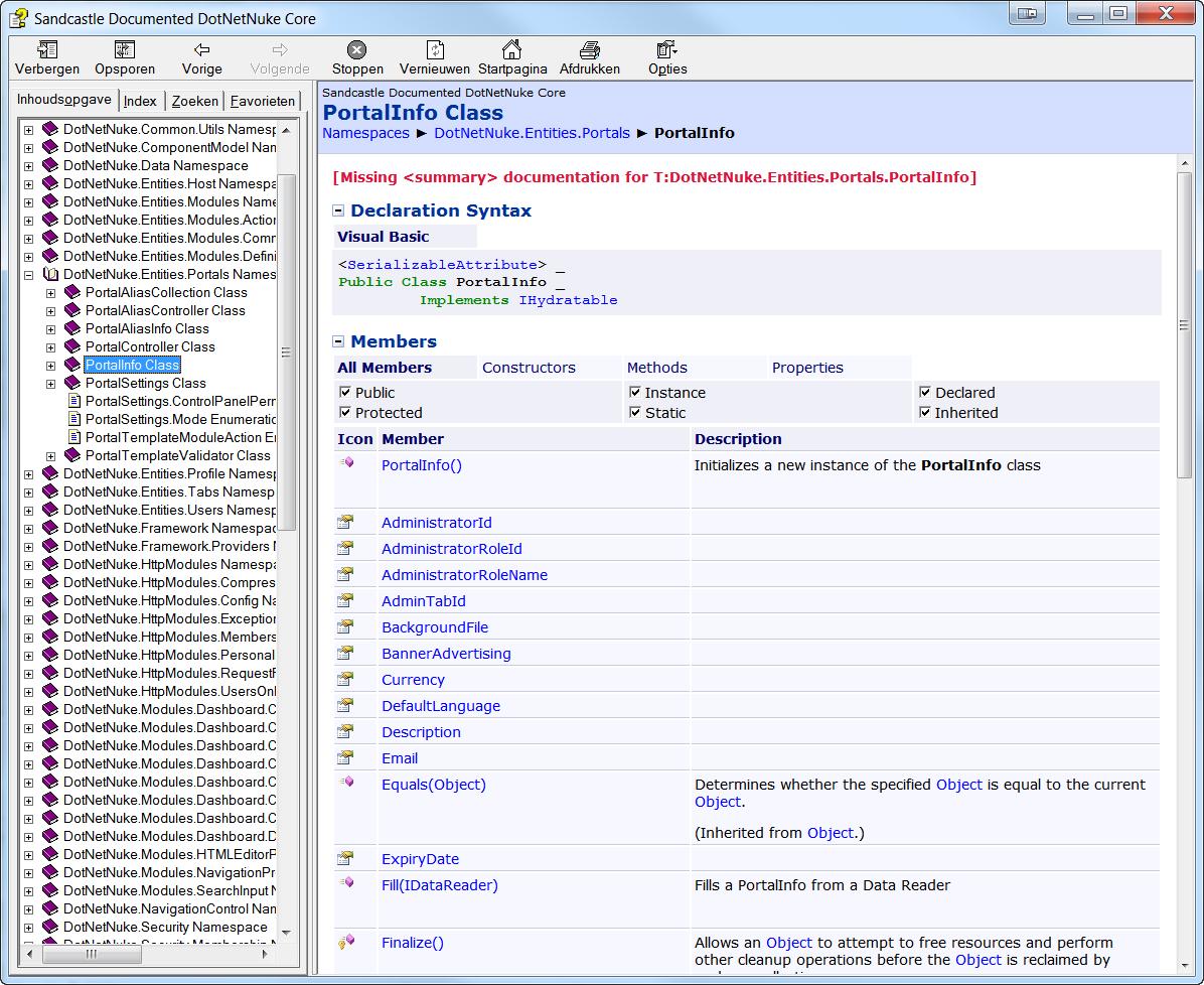 DnnModule.com - Articles - Msdn style help file for dotnetnuke api ...