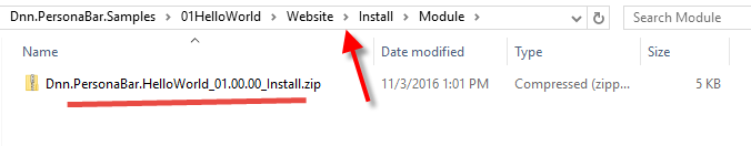 Install Zip File