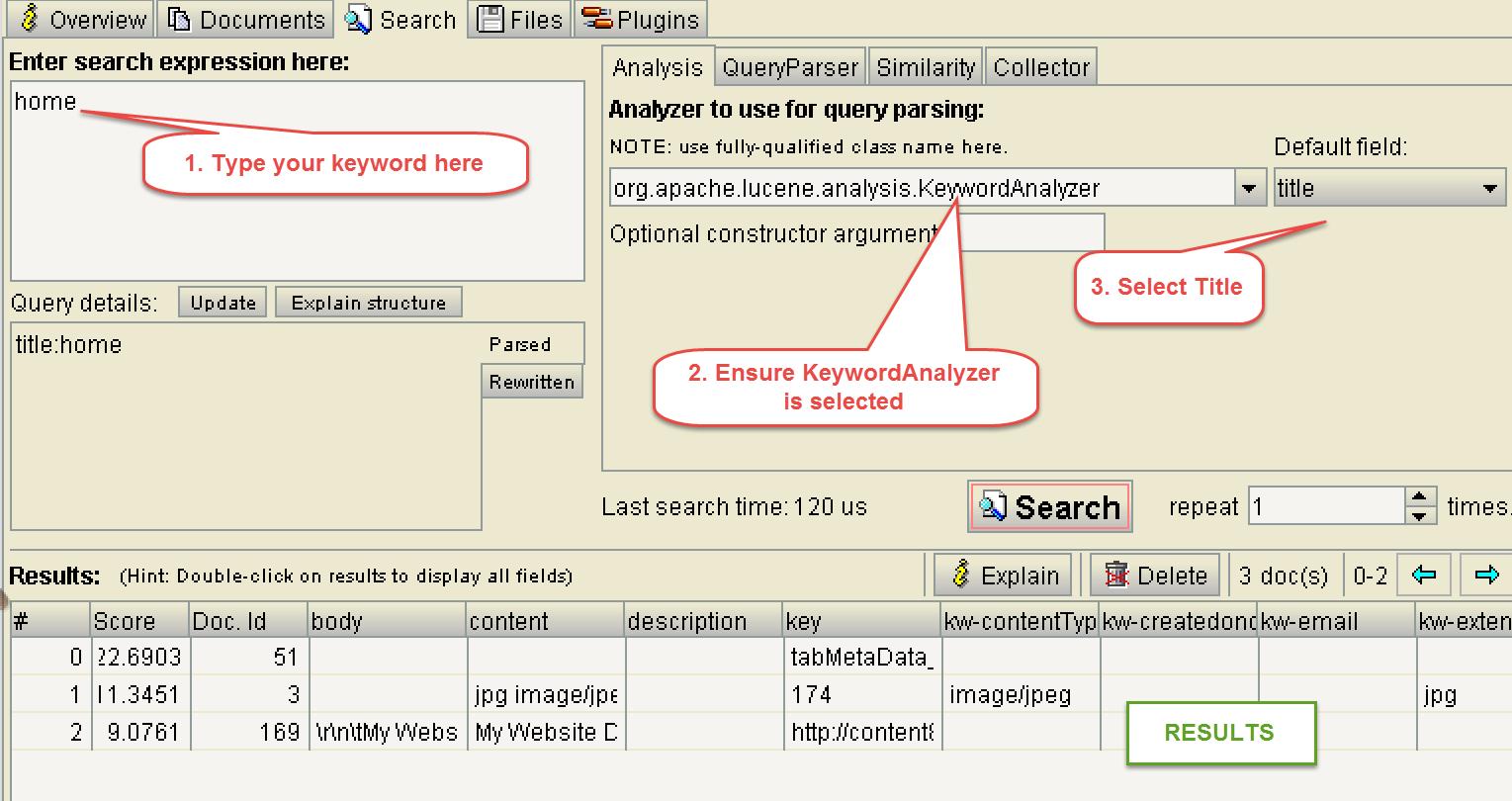 Using luke to peek into lucene search database dnn software running queries baditri Gallery