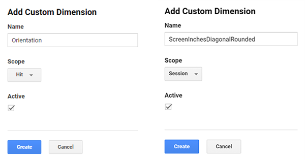 Google Analytics custom dimensions settings