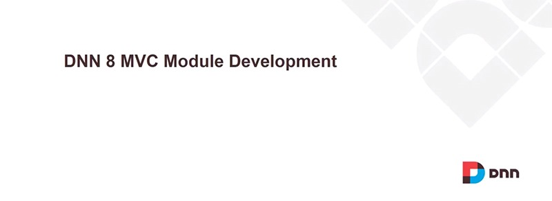 DNN 8 MVC Module Development Pattern