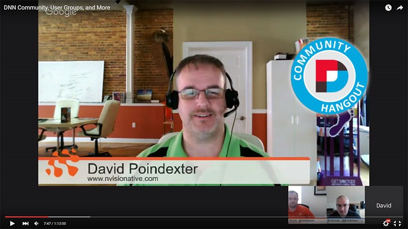 DNN Hangout: March 2016 with David Poindexter