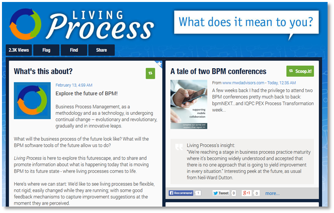 living process blog powered by scoop.it