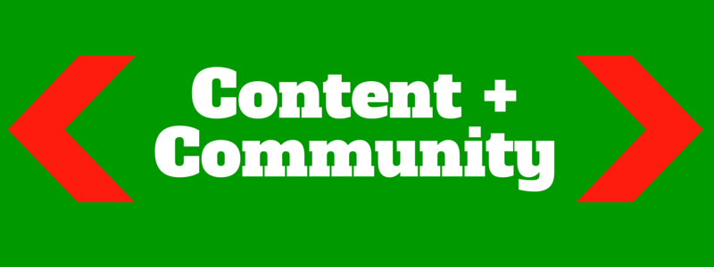 combine content and community on your site