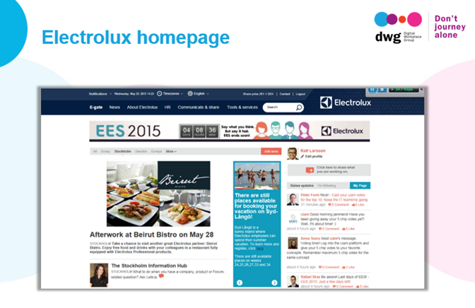 electrolux intranet homepage