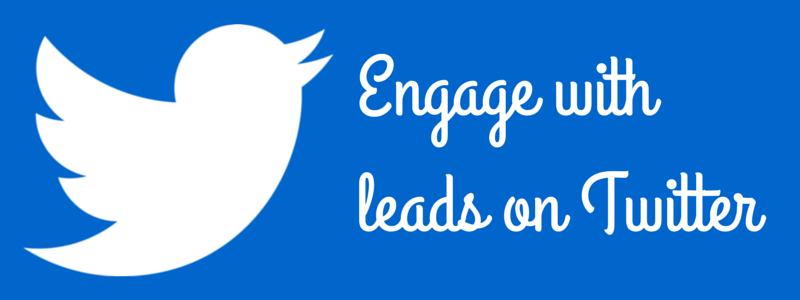 engage with leads on Twitter