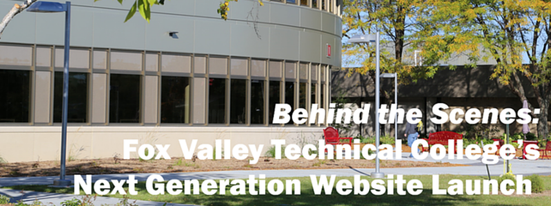 Fox Valley Technical College website launch