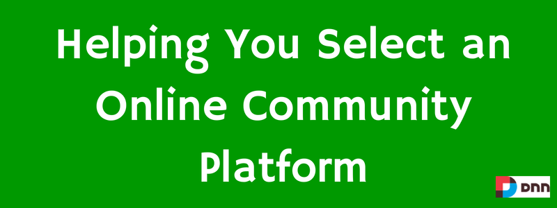 helping you select an online community platform