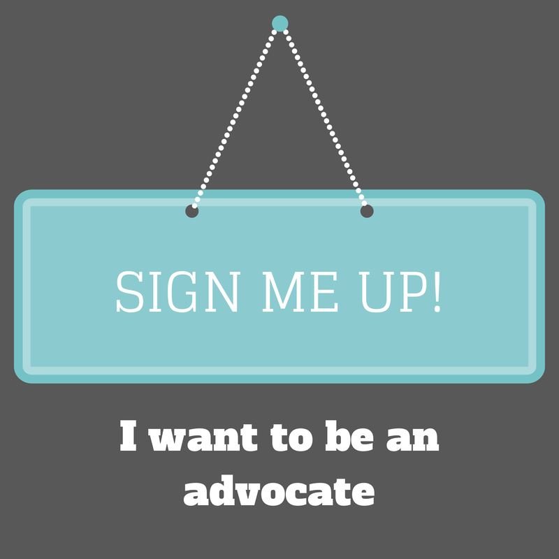 I want to be an advocate