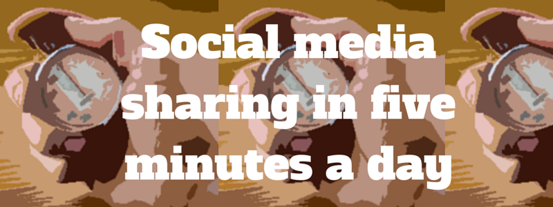 social media sharing in five minutes per day