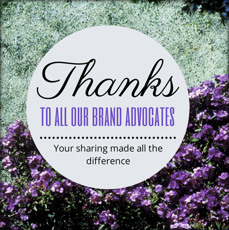 Thanks to our brand advocates
