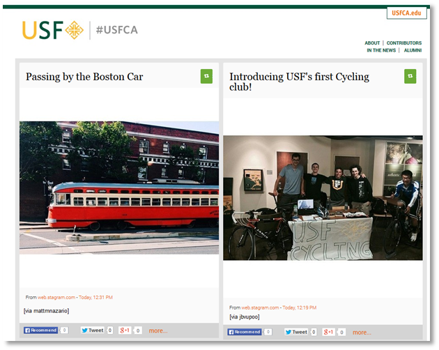University of San Francisco curated site