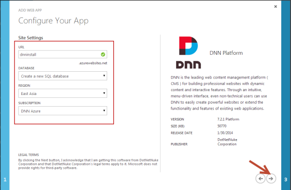 DNN Azure Websites Configuration