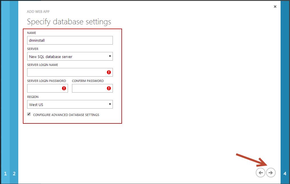 creating a dnn installation on windows azure websites dnn software