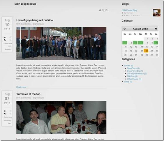 Blog Module v 6.0