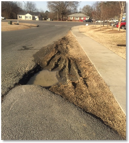 pothole in my community