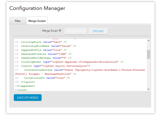 configuration manager - merge scripts