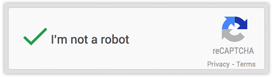 reCAPTCHA - I am not a robot