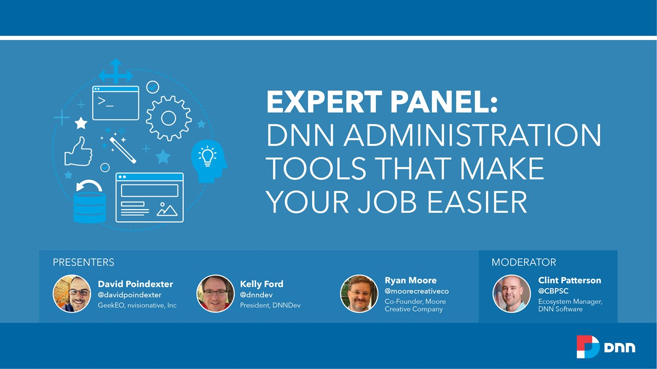 Expert Panel Webinar on DNN Administration tools banner image