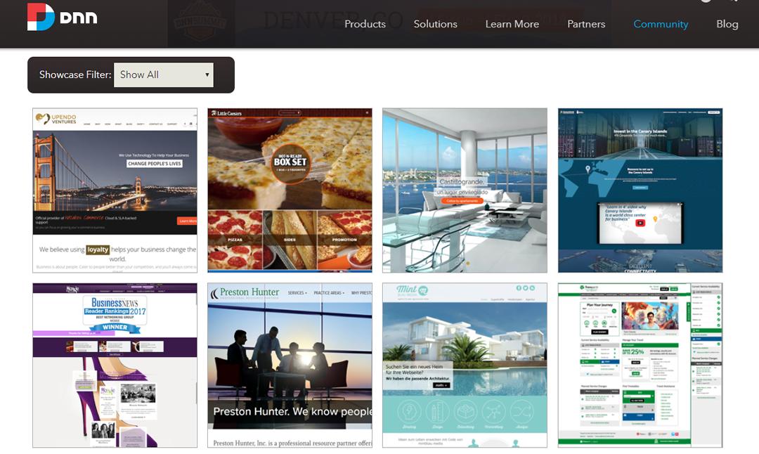 DNN Community Showcase Screen Capture