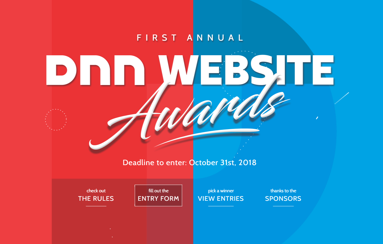 2018 DNN Website Awards Screenshot
