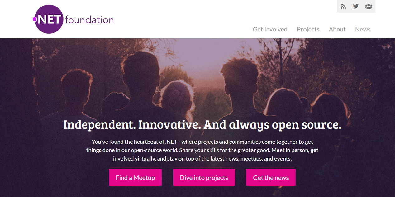 Screenshot of the .NET Foundation home page