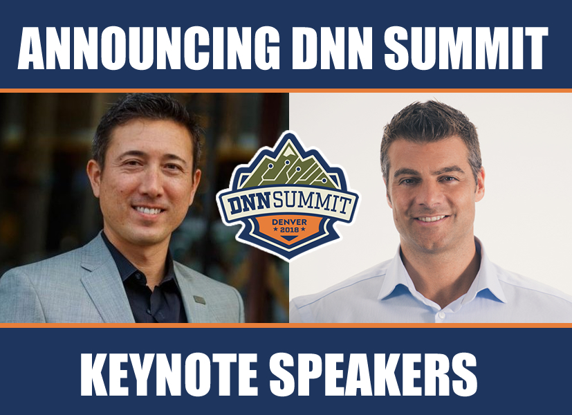 DNN Summit Keynote Speakers Andy Tryba and Shaun Walker