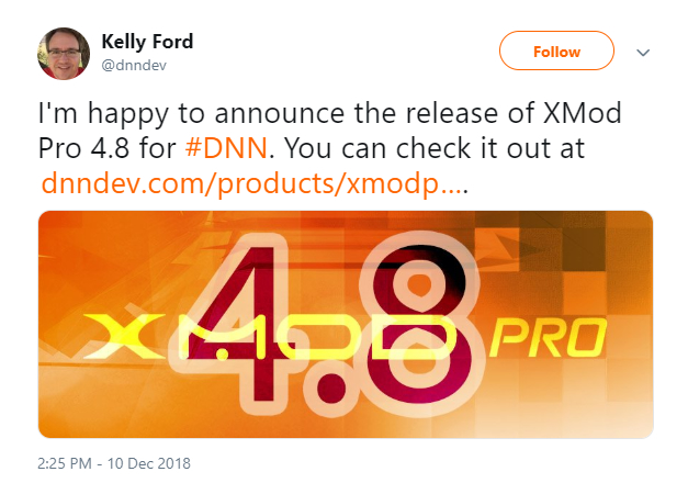 DNN Dev Announced the release of XMod Pro 4.8