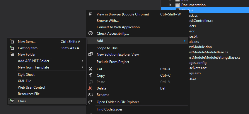 Adding a web service class in Visual Studio