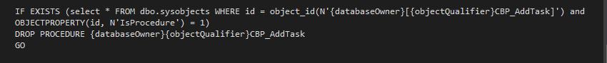 Add task Uninstall SQL Data Provider File