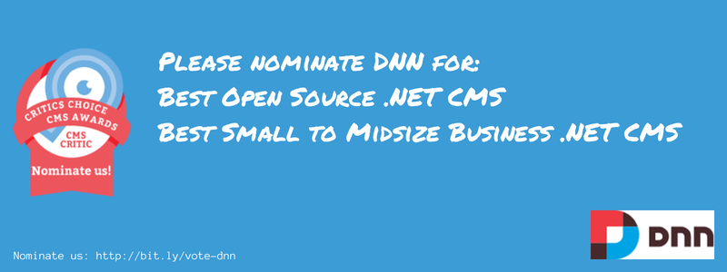 Nominate DNN in the 2014 CMS Critic Awards