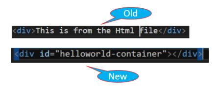 Difference in the Html File
