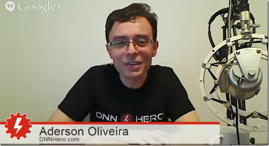 DNNHangout: Interview with Aderson Oliveira & learn about site templates