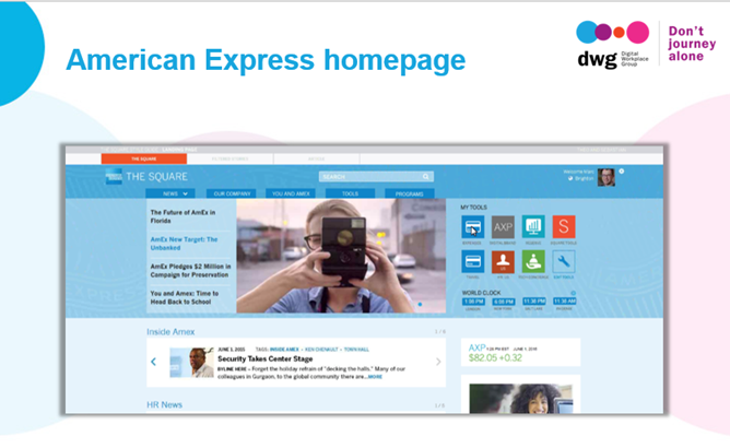 american express intranet homepage