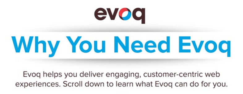 deliver engaging web experiences with Evoq