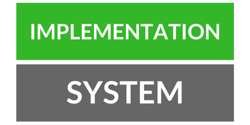 implementation vs. system specific
