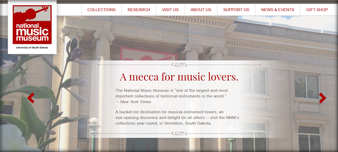national music museum homepage