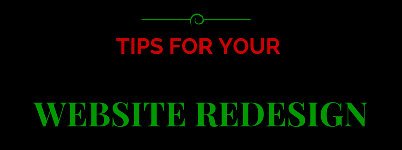 tips for your website redesign