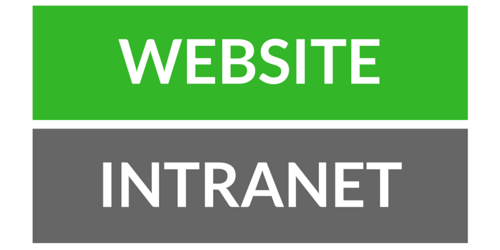 website vs. intranet