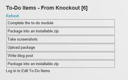 Knockout Binding Version