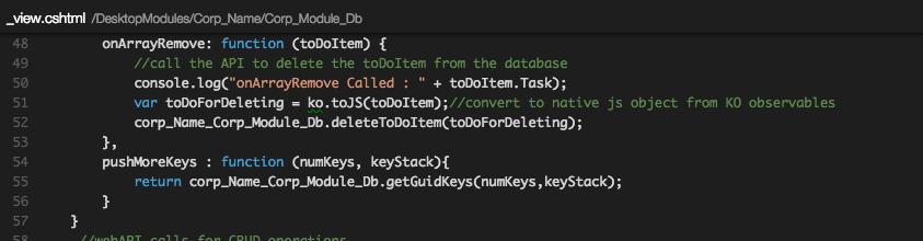 removing item from Knockout koobservable array